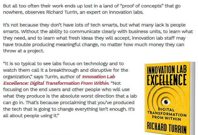 Do Banking Execs Have It All Wrong With Innovation Labs?